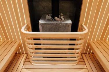 Ограждение для печки в бане