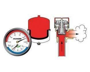 Регулировка давления в системе отопления закрытого типа