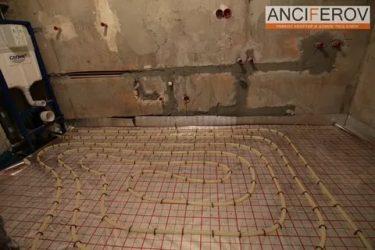 Теплый пол от горячей воды в квартире