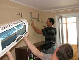 Как крепится кондиционер к стене в комнате?